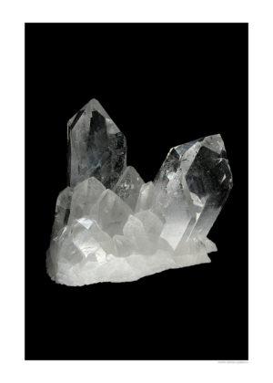 Bergkristall A4 svart webb
